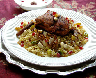 Middle Eastern Jeweled Pilaf with Chicken