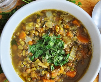 Lovely and Warming Mung Bean & Lentil Soup