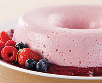 Mousse Light de Frutas Vermelhas