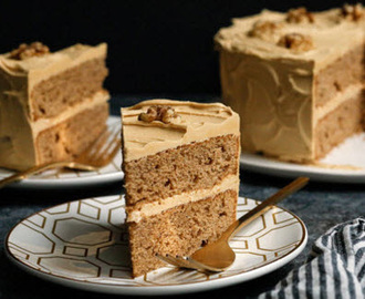 Coffee Walnut Layer Cake recipe