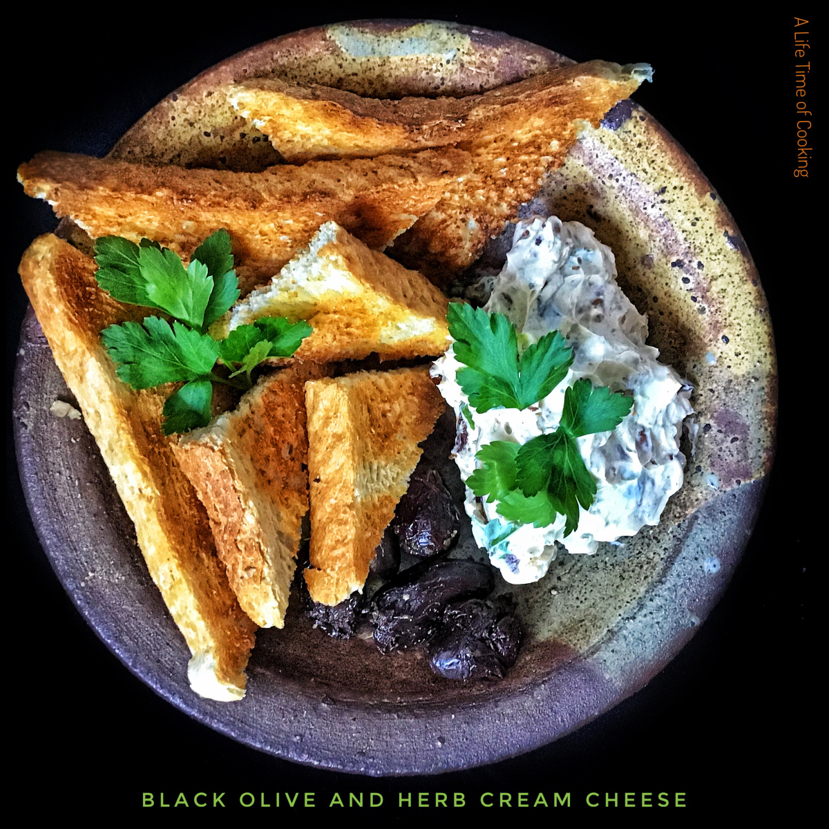 Black Olive, Herb and Chilli Pine Nut Cream Cheese
