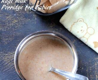 Ragi Milk Porridge | Finger Millet Porridge for Babies