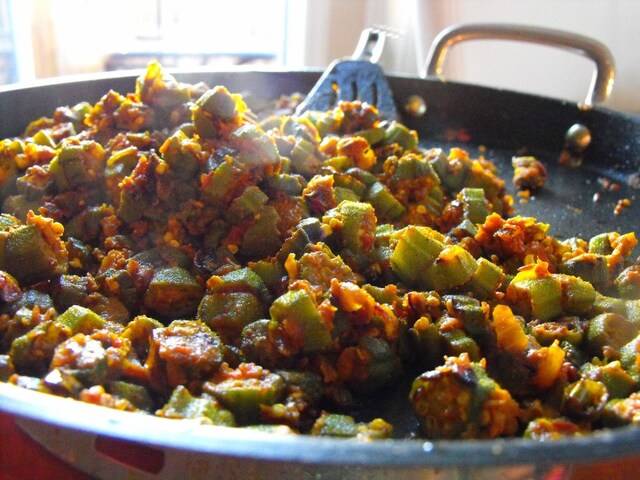 Beautiful Over-spiced Okra