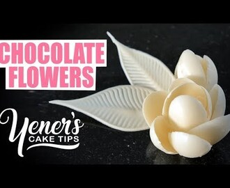 How to Make Simple CHOCOLATE FLOWERS Tutorial | Yeners Cake Tips with Serdar Yener from Yeners Way