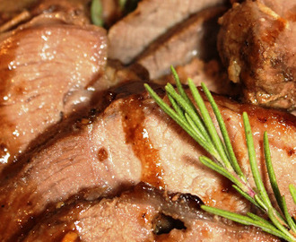 Roast Leg of Lamb with Rosemary and Honey-Balsamic Pan Gravy