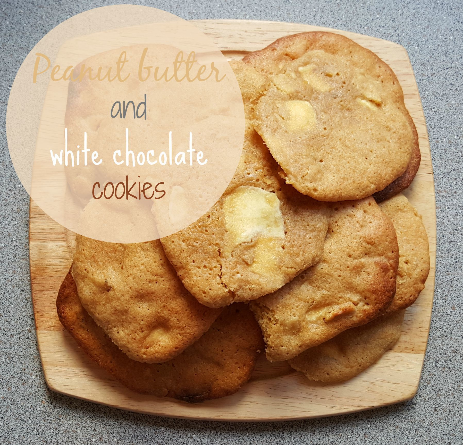 Recipe - Peanut butter & white chocolate cookies #GBBOBloggers2015