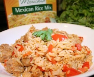 Mexican Rice with Turkey Sausage Recipe & Nueva Cocina Review