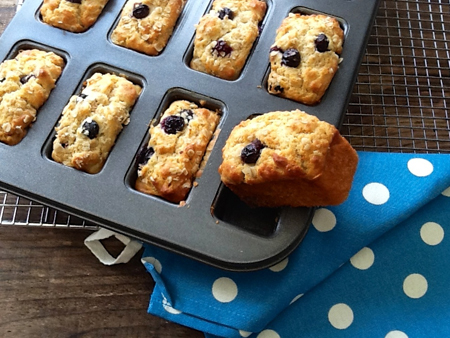 Healthy Blueberry and Orange Muffin Bars