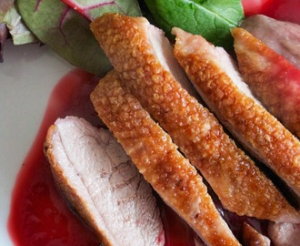 Roasted Duck Breasts with Raspberry and Orange Sauce