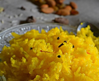 Meethe Chawal Recipe, How to make Punjabi Sweet Yellow Rice | Saffron Sweet Rice