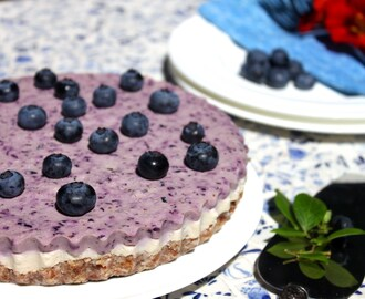 Raw Blueberry Cheesecake (Vegan, Gluten Free, Paleo)