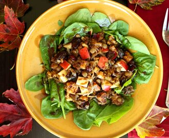 Sweet Autumn Salad (gluten free and vegan)