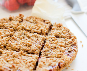 Vegan Aardbei Crumble Repen