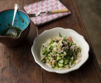 Crab Salad with a Fresh Coriander Dressing