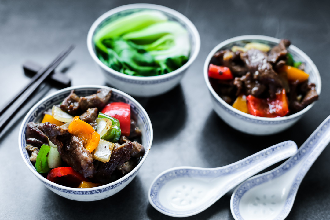 Beef and Peppers in Black Bean Sauce