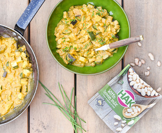 Vegetarische curry met witte bonen mix