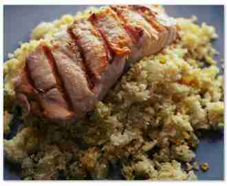 Salmon with Spiced Cauliflower Rice