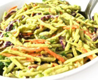 Super Low Calorie Honey Mustard Broccoli Slaw Recipe