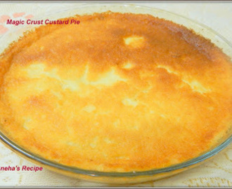 Magic Crust Custard Pie - A No Fuss Baked Dessert