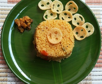 tomato rice recipe, how to prepare tomato rice, thakkali sadam