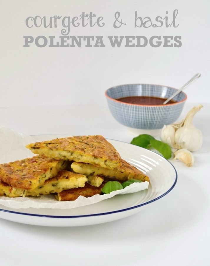 Recipe: Courgette & Basil Polenta Wedges