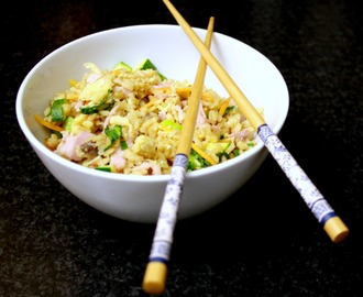 Vegetable and Ham Egg Fried Rice