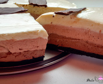 Cheesecake tres chocolates