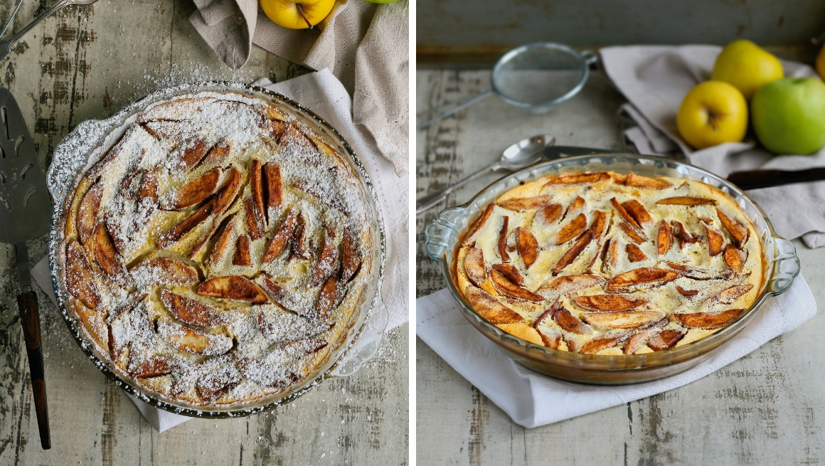 Apple and cinnamon clafoutis