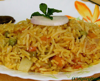 Easy Vegetable Briyani