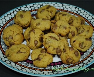 Cookies de mantequilla de cacahuete y chips de chocolate