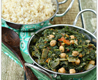 The Eat to Live Cookbook Project: Channa Saag