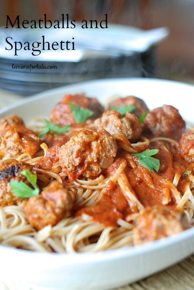 Meatballs and Spaghetti {And a Cook Book Giveaway!}