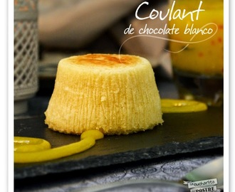 COULANT DE CHOCOLATE BLANCO CON COULIS DE MANGO Y AZAFRÁN / WHITE CHOCOLATE COULANT WITH MANGO AND SAFFRON COULIS