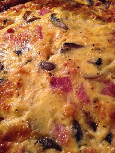 Ham Mushroom and Cheese Quiche