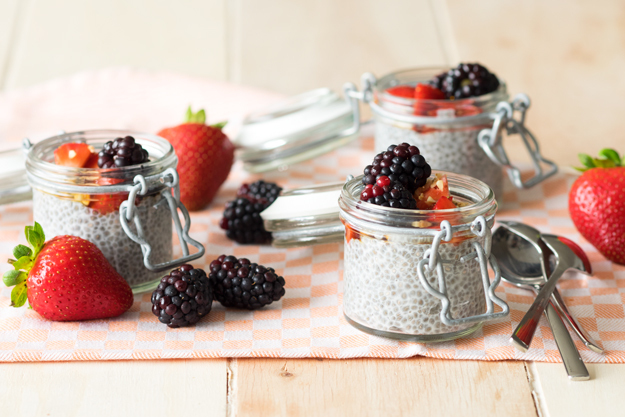 Overnight Chia Seed Pudding with Almond Milk (GF and Vegan)