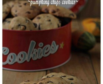 Galletas de calabaza y chocolate ~pumpking chips cookies~ (sin materia grasa)