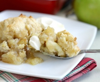 Apple and pear cobbler