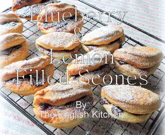 Blueberry and Lemon Filled Scones
