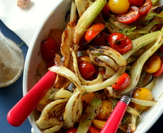 GRILLED FENNEL SALAD WITH HONEY-LIME DRESSING