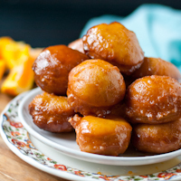 Fried Honey Citrus Cakes #SundaySupper