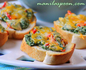 Spinach and Cream Cheese Crostini