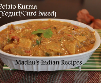 Potato kurma | Potato Koorma | Aloo Kurma | Indian Curries with Gravy