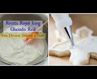 Receta Royal Icing/Glaseado Real Facil