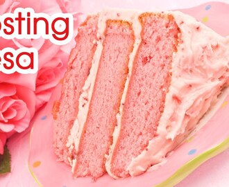 Frosting Buttercream de Fresa de Cream Cheese o Queso Crema
