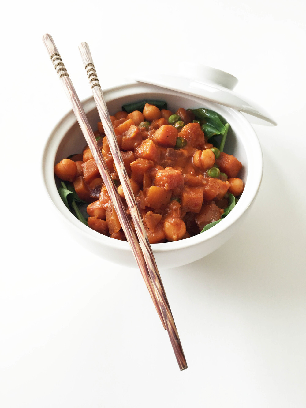 Chickpea, Butternut Squash & Green Pea Curry