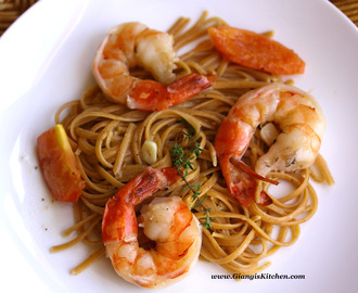 Habanero Pasta with Prawns and Wine Sauce