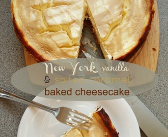 Recipe - New York vanilla & salted caramel baked cheesecake #GBBOBloggers2015