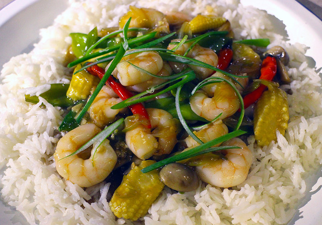 Prawns and Garlic Stir Fry