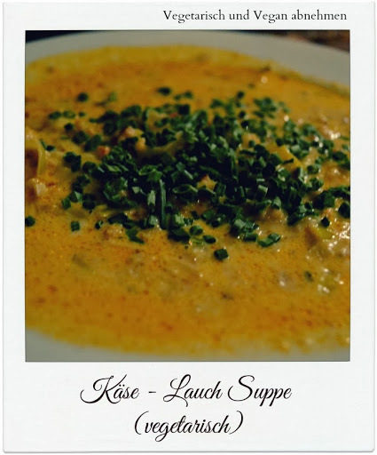 Käse - Lauch Suppe (low carb & vegetarisch)