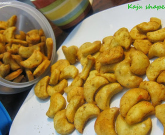 Chatpati Kaju (Cashew Nut)shaped Mathri /Mathri with a chatpata twist -Diwali Snack Item